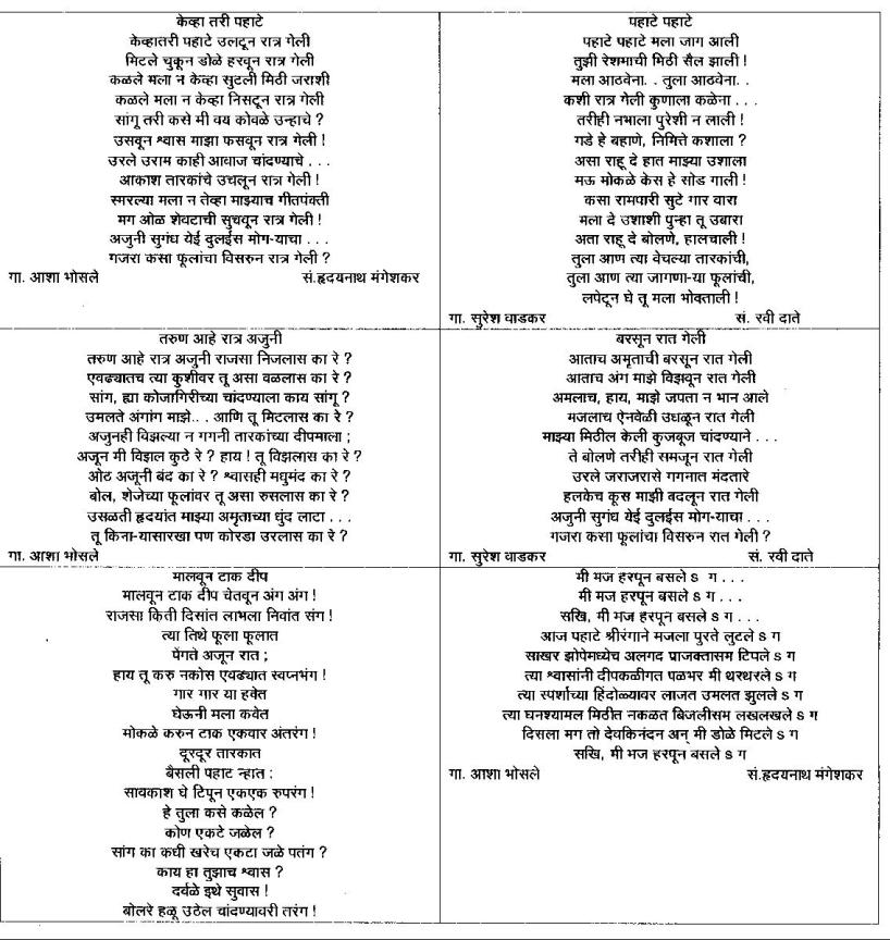 Marathi Gazal 1