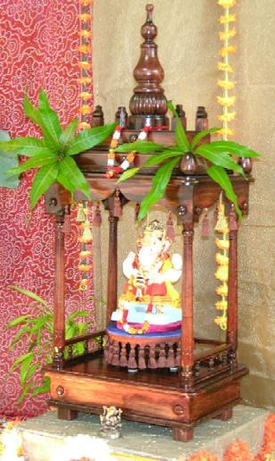Ganapati mandir created by Prof.  Narendra Dahotre (1980 Met.) from scratch.